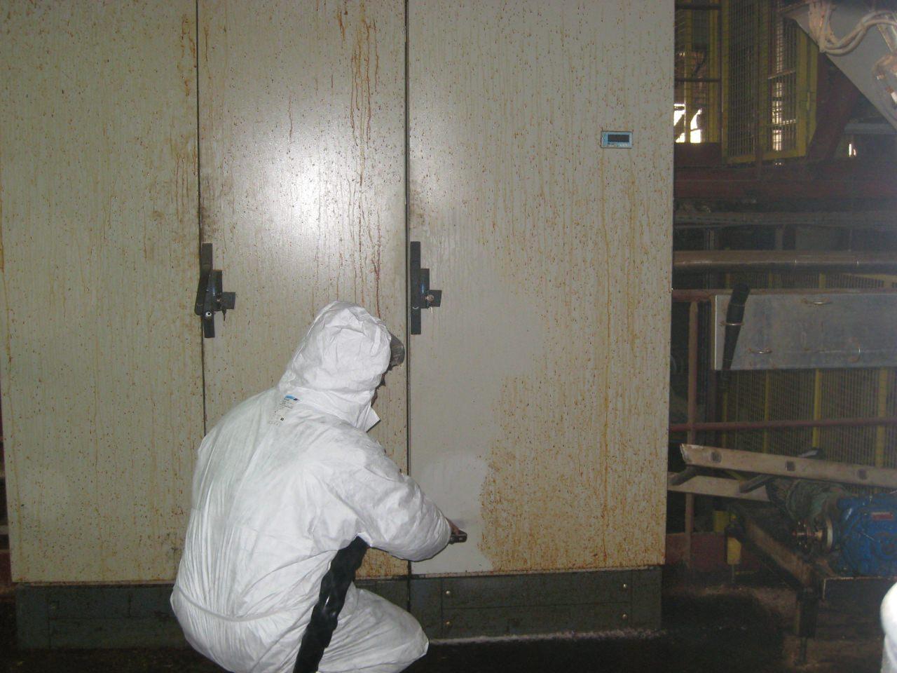 nettoyage cryogenique en usine agroalimentaire sur materiel electrique