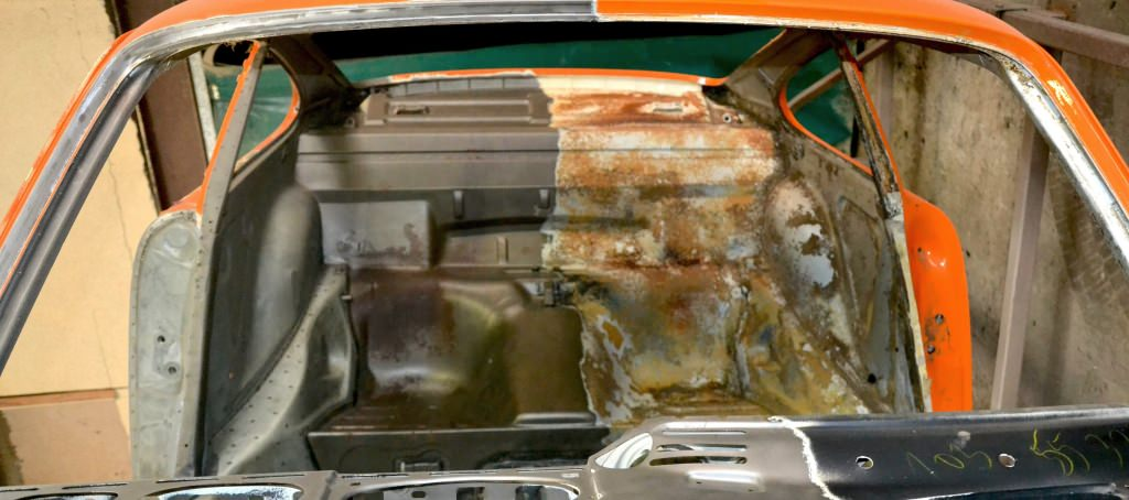 aérogommage des assises arrière porsche 911