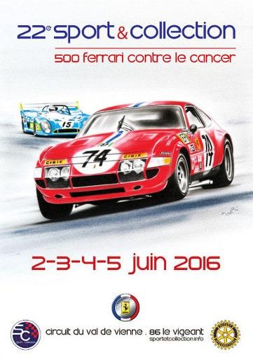 Affiche 500 Ferrari contre le cancer 2016 - 22ème édition