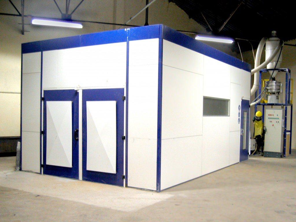 cabine de decapage ecologique basse pression