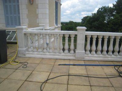 nettoyage pierre de taille dalle de terrasse escalier en pierre