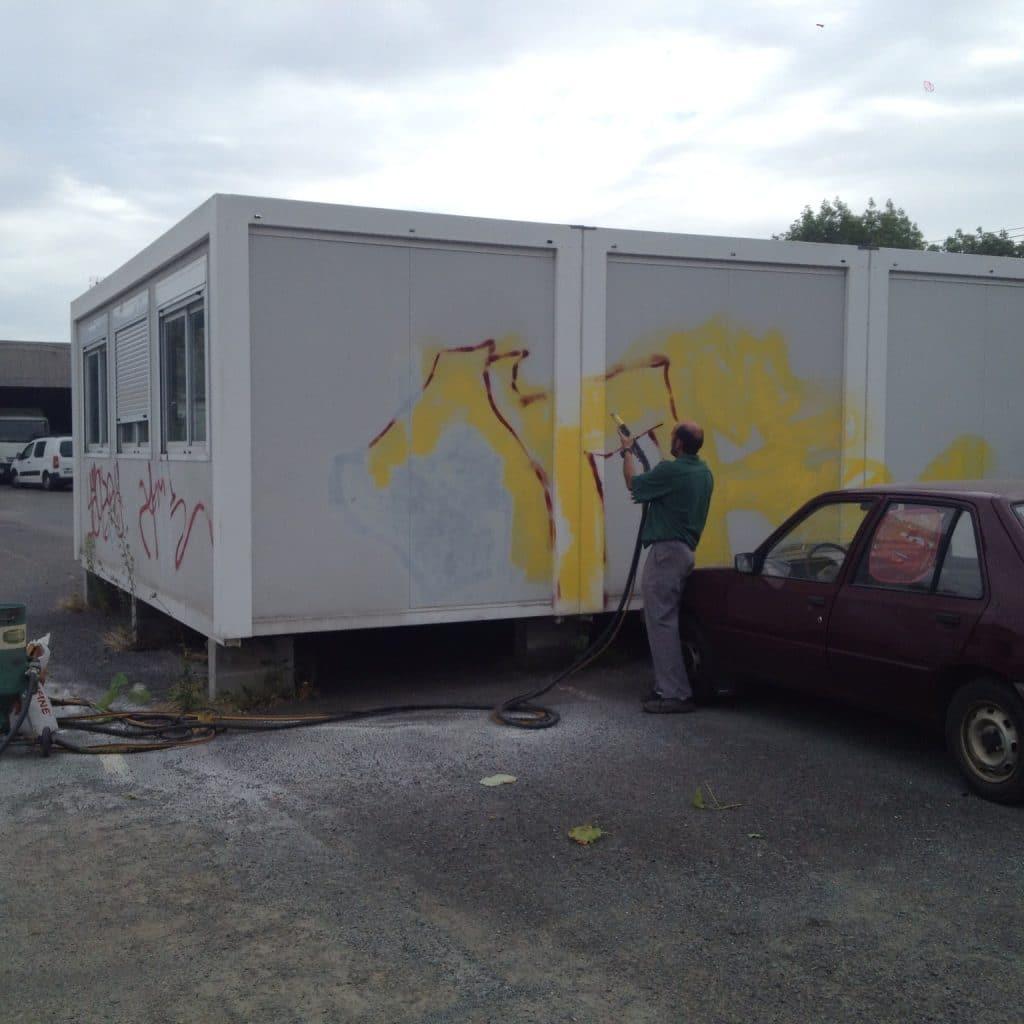 elimination peinture, affichage sauvage, graffitis,tags