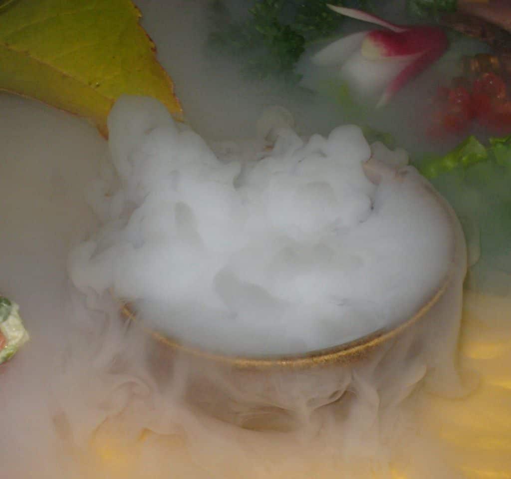 neige carbonique effet scenique fumée