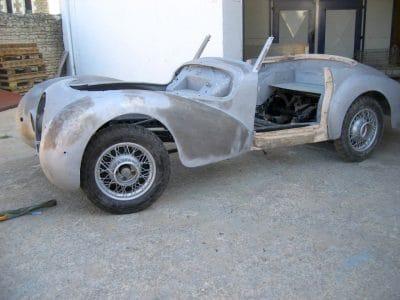 restauration de voiture sablage chassis longerons, chassis tubulaires