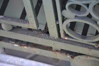 la rouille est bien présente sur les enseigne metalliques de la samaritaine