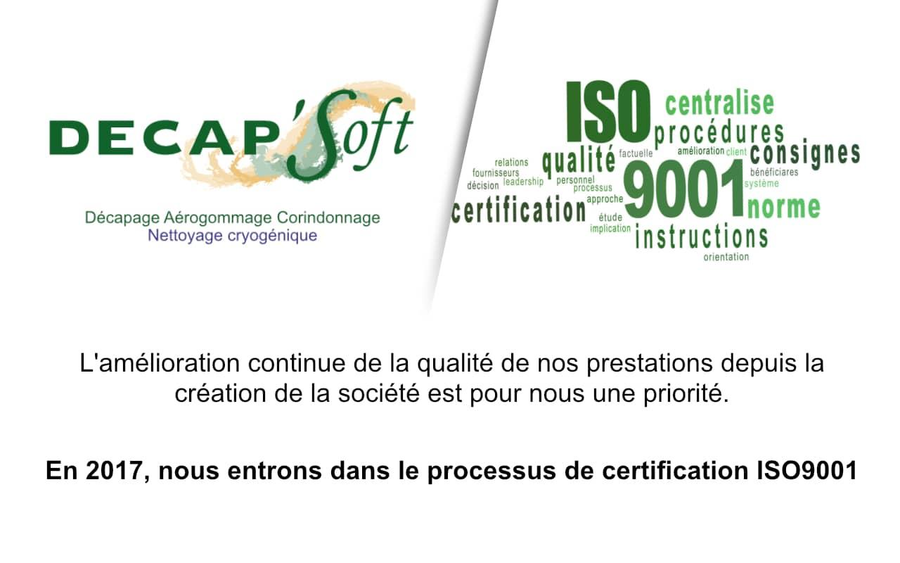 2017 Année De La Certification Iso9001 Pour Decapsoft