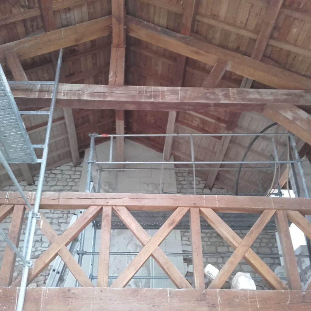 restauration charpente chapelle