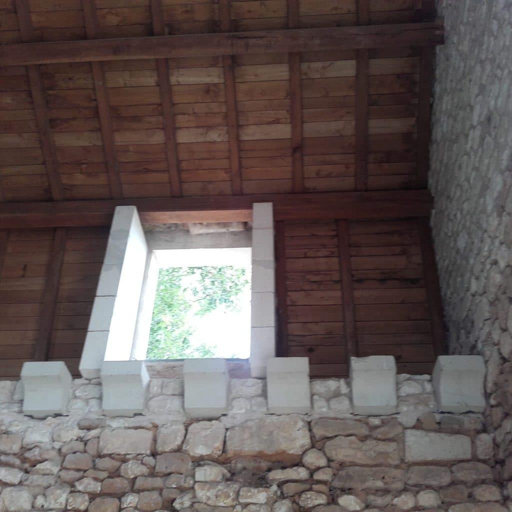 aérogommage pierre de taille chapelle