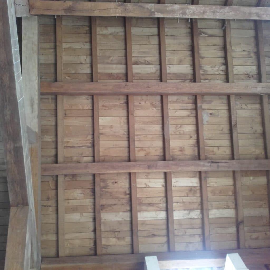 plafond décapé