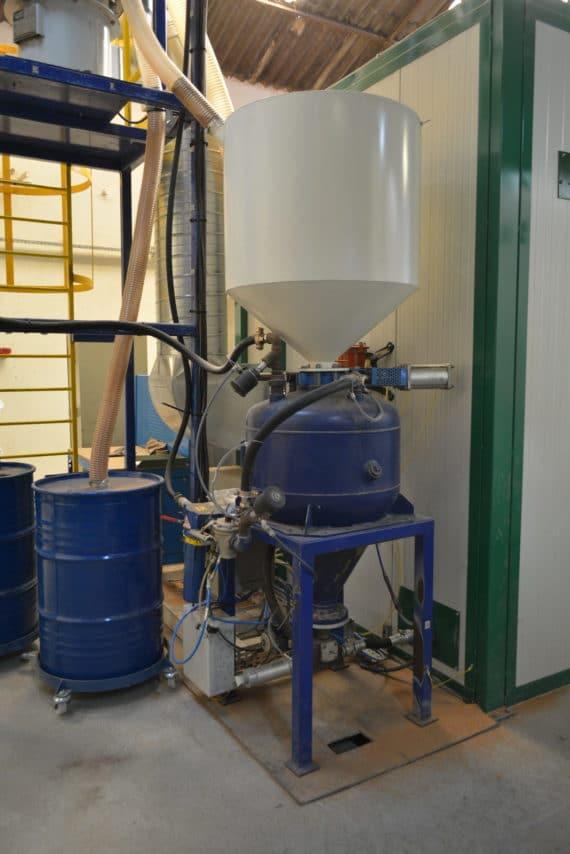 trémie pot à pression grnde cabine 4x6