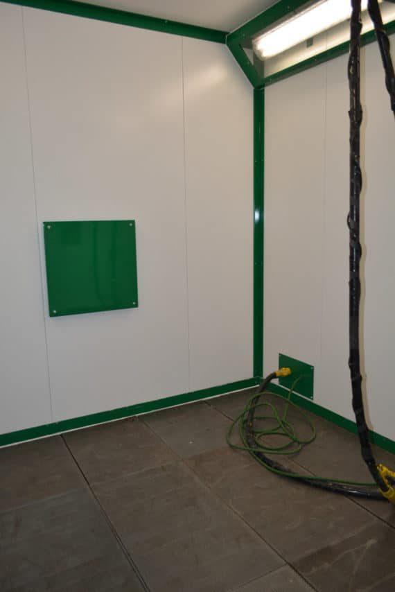 plancher récupérateur de la cabine de décapage