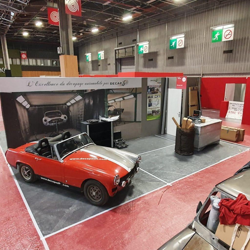Installation stand décapsoft rétromobile 2020