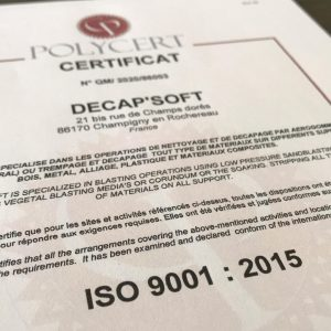 diplome polycert certification iso9001:2015