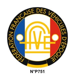 Membre de la FFVE Fédération Française des Véhicules d'Epoque